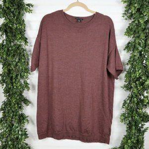 Eileen Fisher Merino Wool Short Sleeve Sweater - M